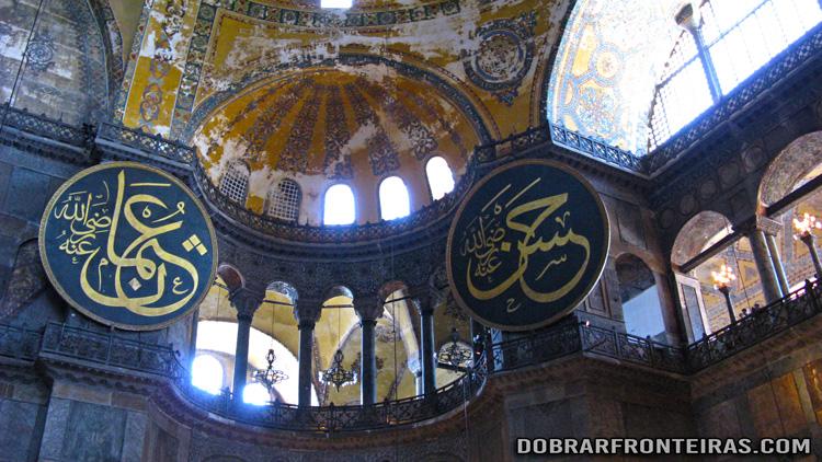 Interior da basílica de Hagia Sophia, Istambul