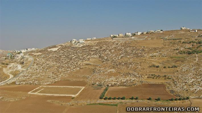 Paisagem palestiniana próximo de Beith Sahour