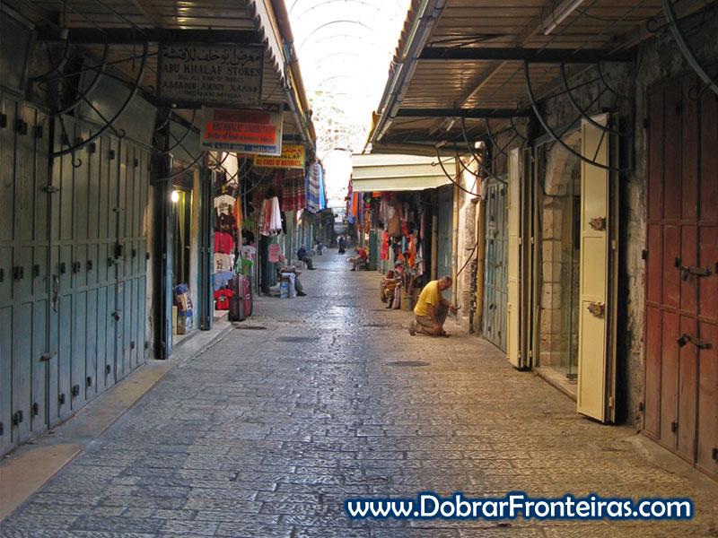 Ruas vazias Jerusalém