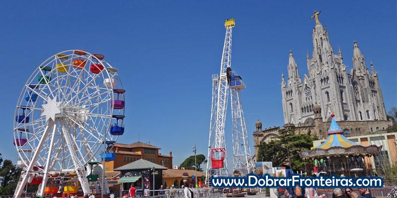 Alto do Tibidabo - o parque de diversões de Barcelona
