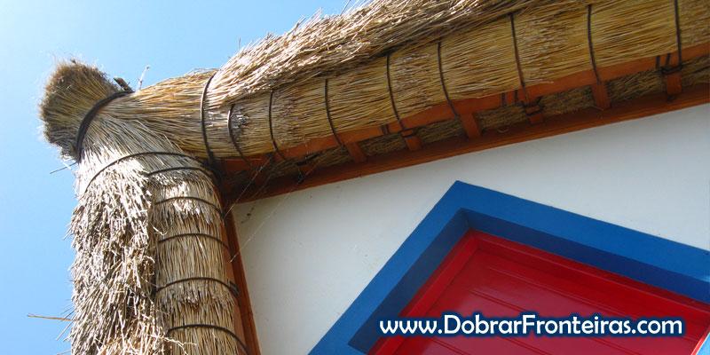 Pormenor do telhado das casas típicas de Santana