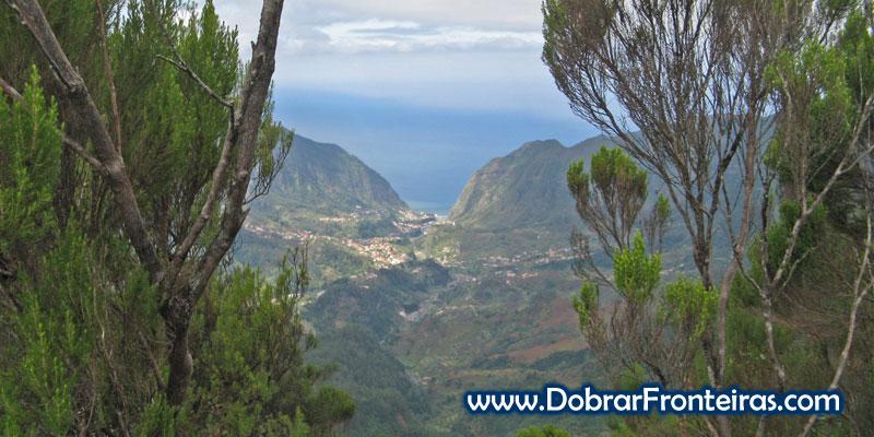 Vista para São Vicente, na ilha da Madeira