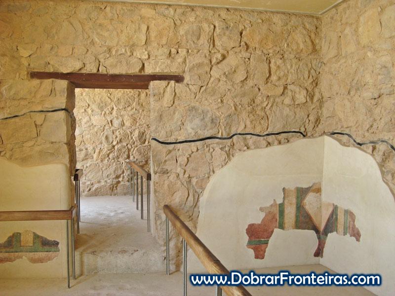 Reconstrução das ruínas de Massada em Israel