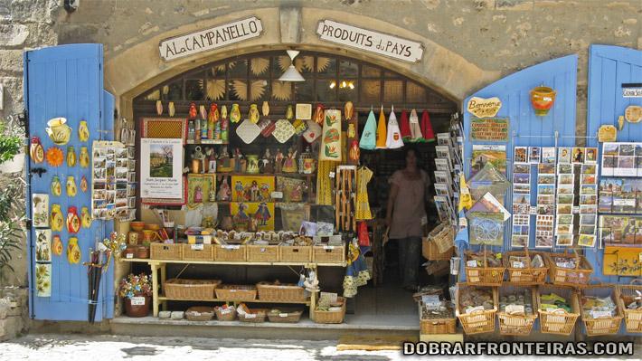 Montra de loja em Les Baux-de-Provence