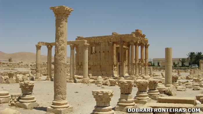 Templo de Baal Shamin nas ruínas de Palmira, Síria