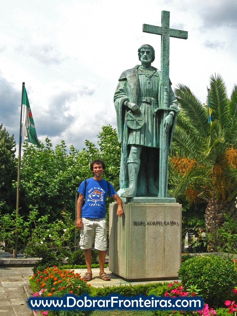 Estátua de Pedro Alvares Cabral na sua terra natal: Belmonte