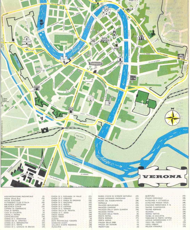 Mapa De Verona Italia.Mapa Turistico De Verona Italia Guia Turistico