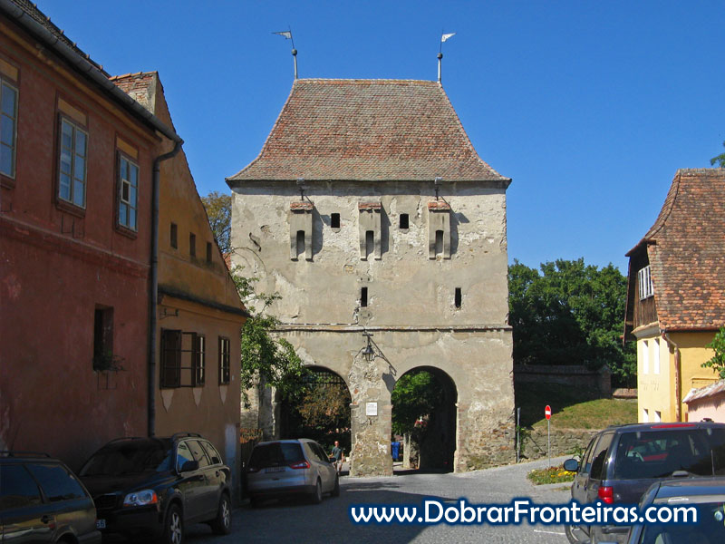 Torre em Sighisoara, Transilvânia, Roménia