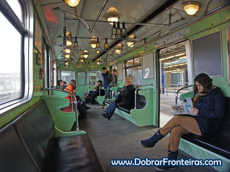 Carruagem do metro de Budapeste