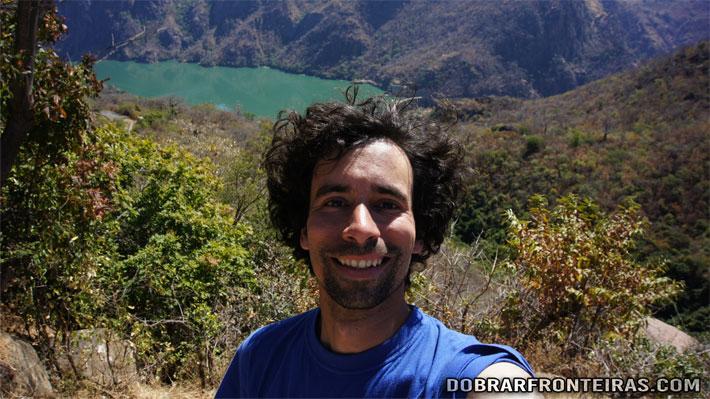 Eu na barragem de Cahora Bassa