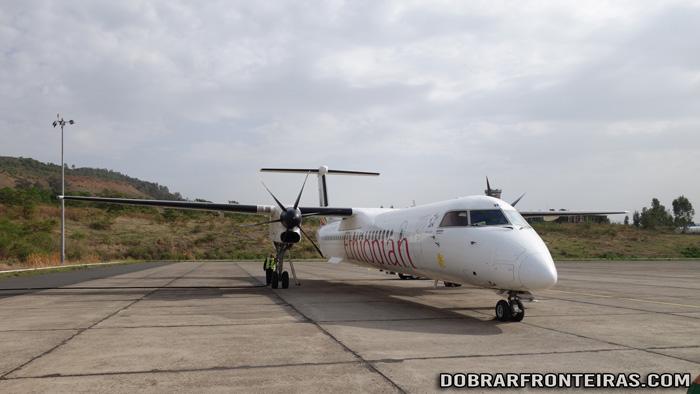 Avião em que voei de Addis Abeba para Gondar