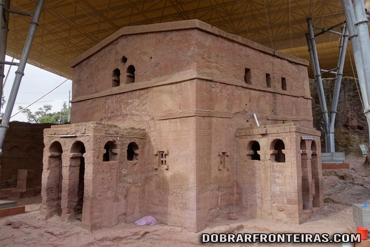 Igreja de Bet Mariam em lalibela, Etiópia
