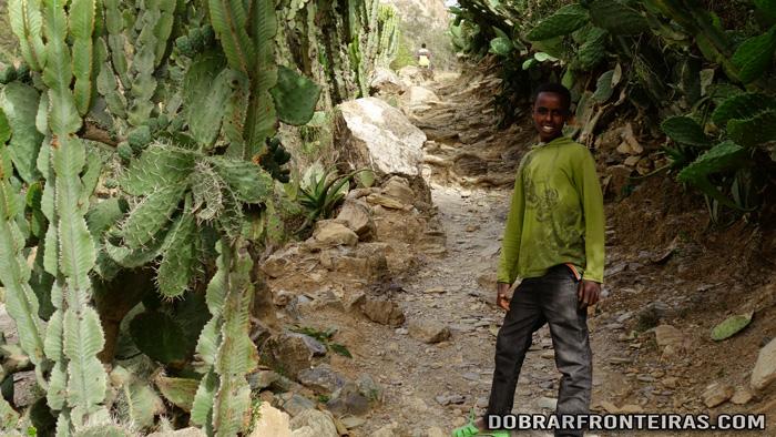 David, o meu guia em Takatisfi