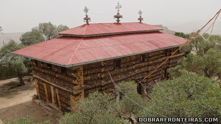 Igreja de Debre Damo vista da torre dos sinos