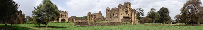 Vista panorâmica do castelo de Gondar