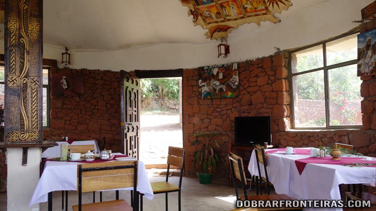 Restaurante do Lalibela Lodge, hotel em Lalibela, Etiópia