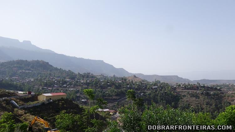 Vista panorâmica de Lalibela, a partir do Lalibela Lodge