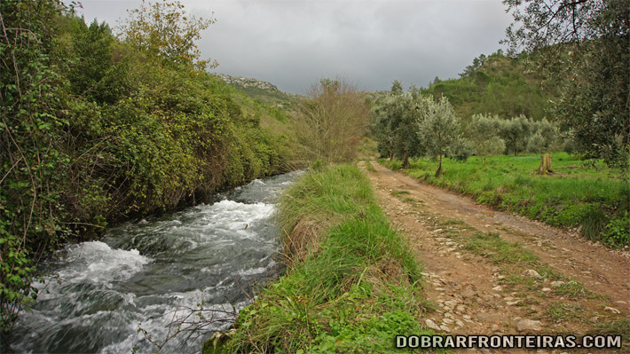 O rio Lena acabado de nascer na Ribeira de Cima