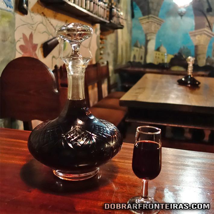 Ginja de Óbidos no bar Ibn Errik Rex