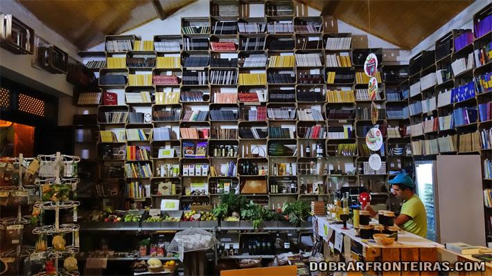 Livraria do Mercado Biológico em Óbidos