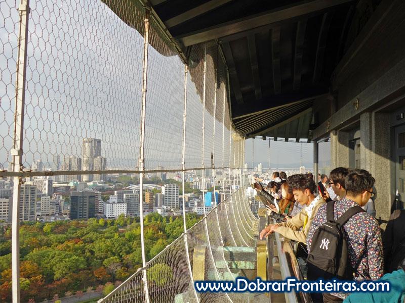 Último piso do castelo de Osaka