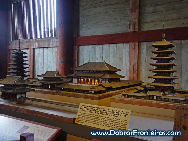 Maqueta do templo original de Todaiji em Nara