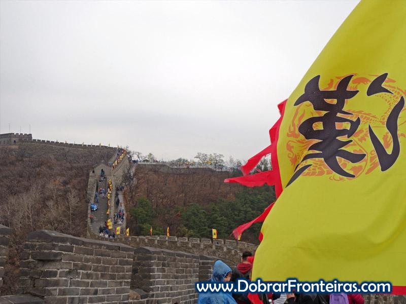 muralha da china Mutyaniu bandeiras