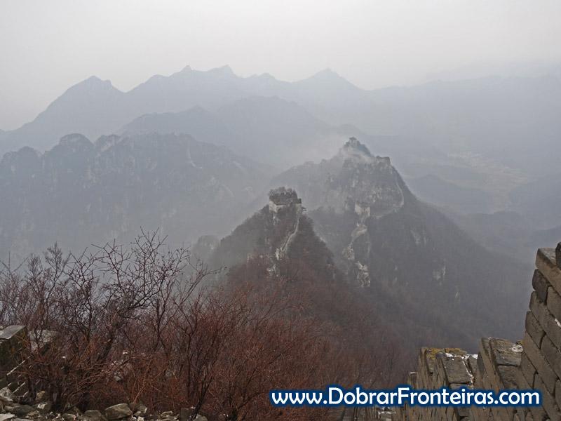 Vista panorâmica Jiankou Muralha da China