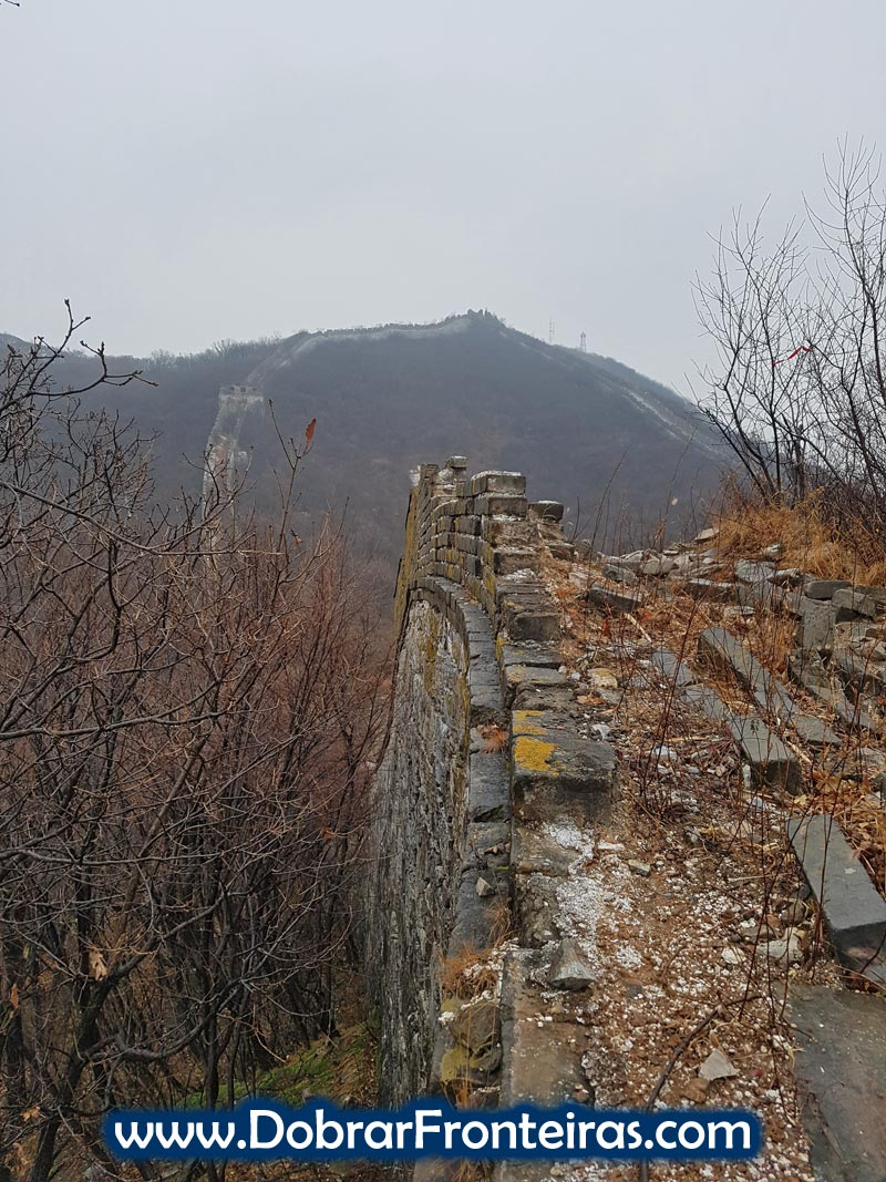 muralha china chifre boi subida