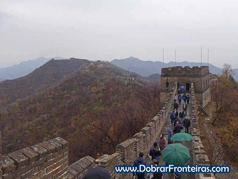 muralha da china Mutyaniu chuva