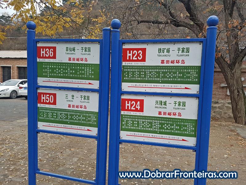 muralha da china Mutyaniu autocarros