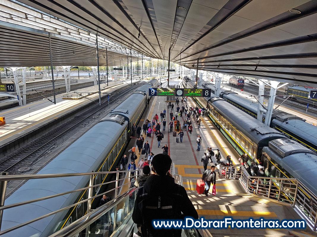 estação comboio Pequim China
