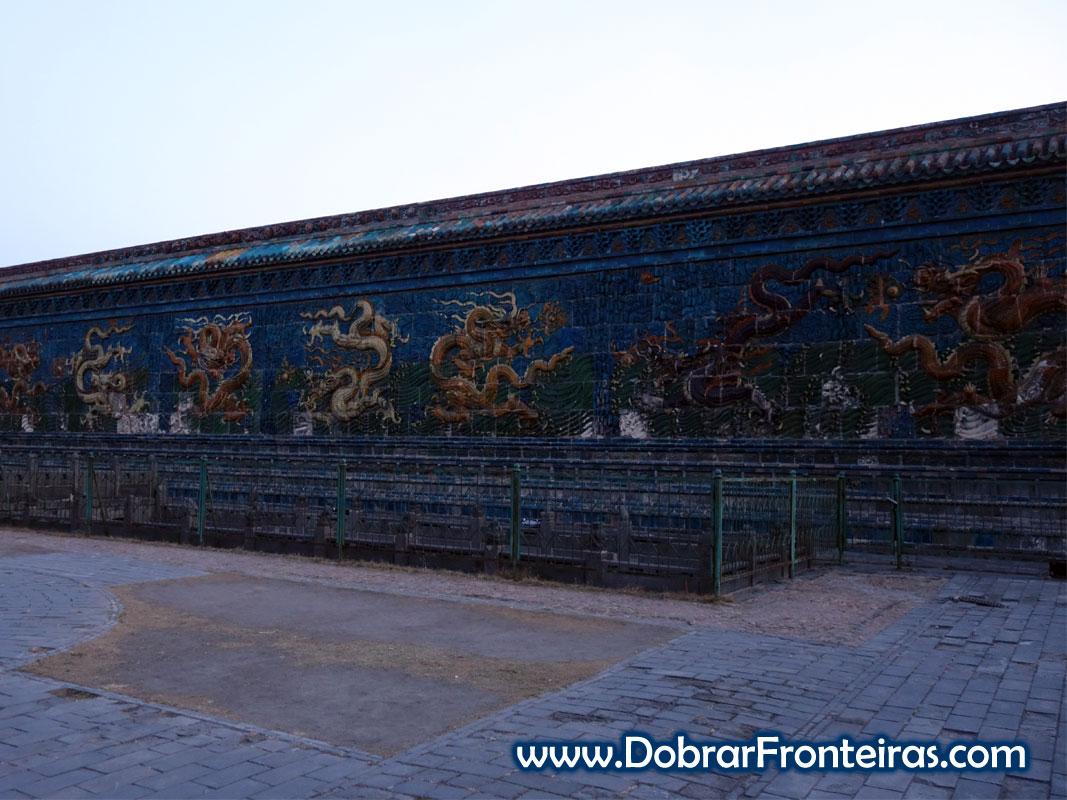 mural 9 dragões Datong