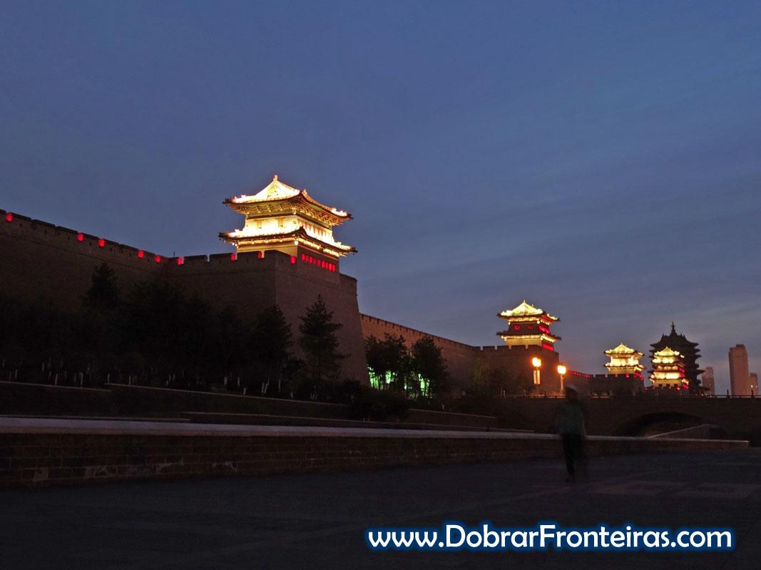 Muralha Datong China noite