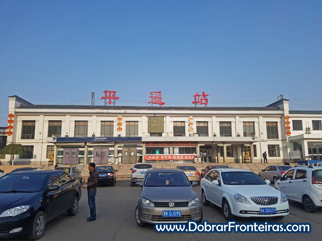 Estação de comboio trem de Jiexiu na China