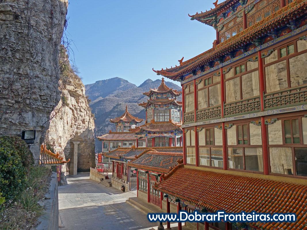 mansão da Lua e do pavilhão do ar puro bonitos edifícios tradicionais chineses