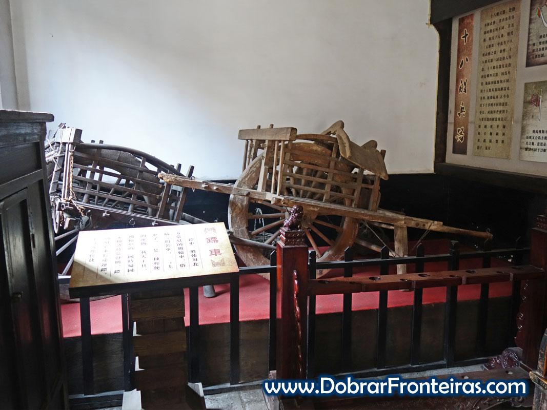 Carroça para transporte de valores na China antiga