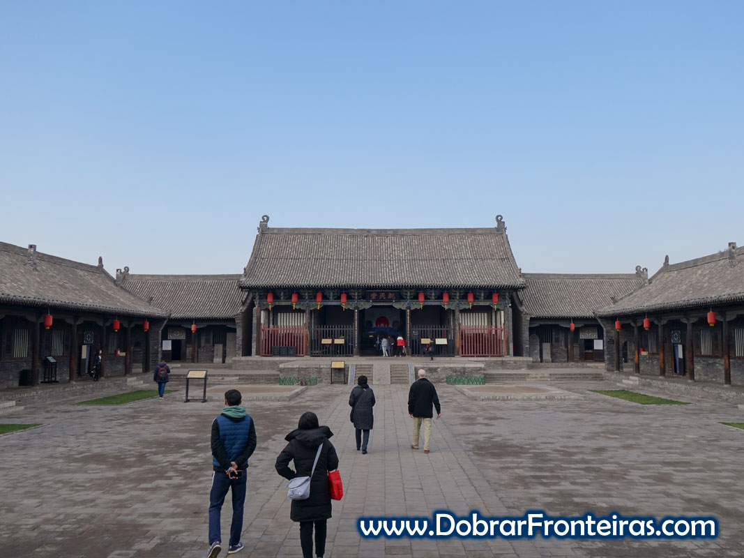 Pátio no palácio do governador de Pingyao
