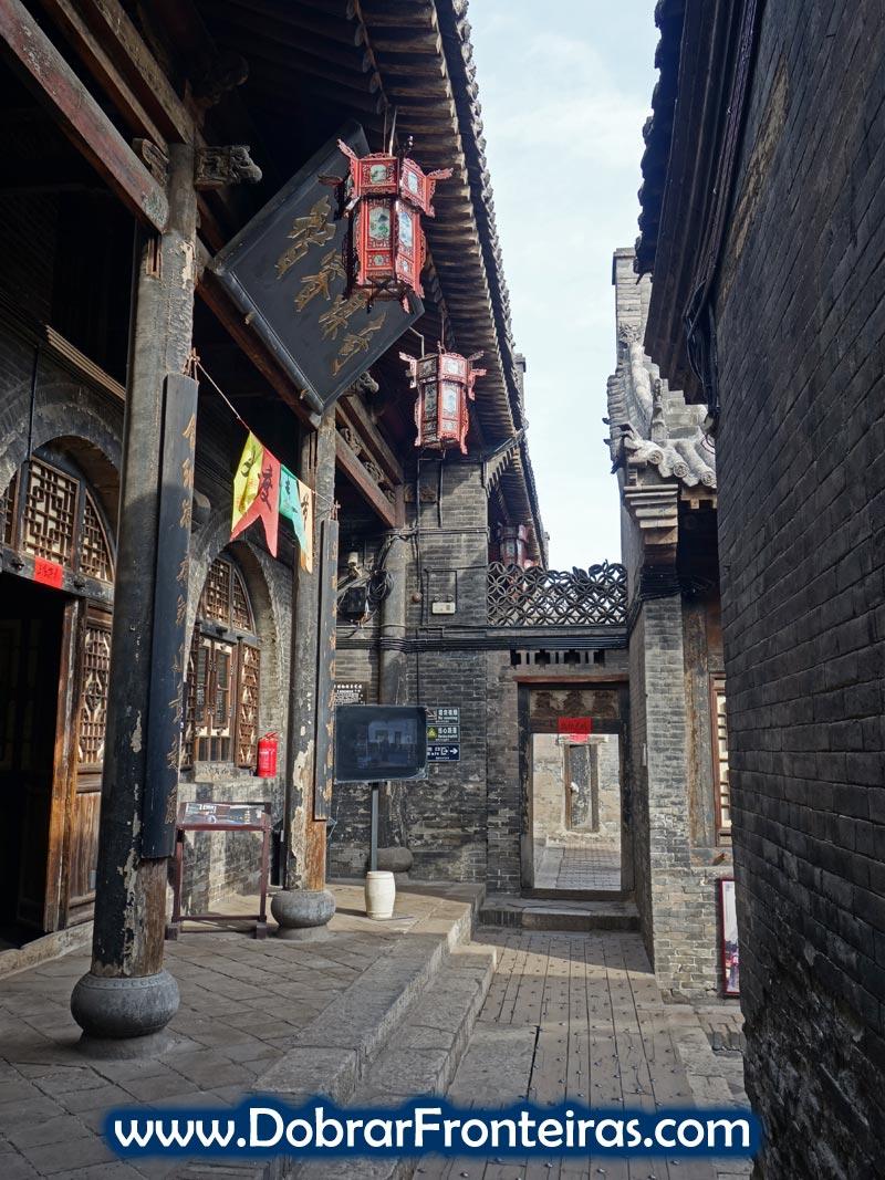Recanto do Museu do Banco Rishengchang. Construção tradicional chinesa