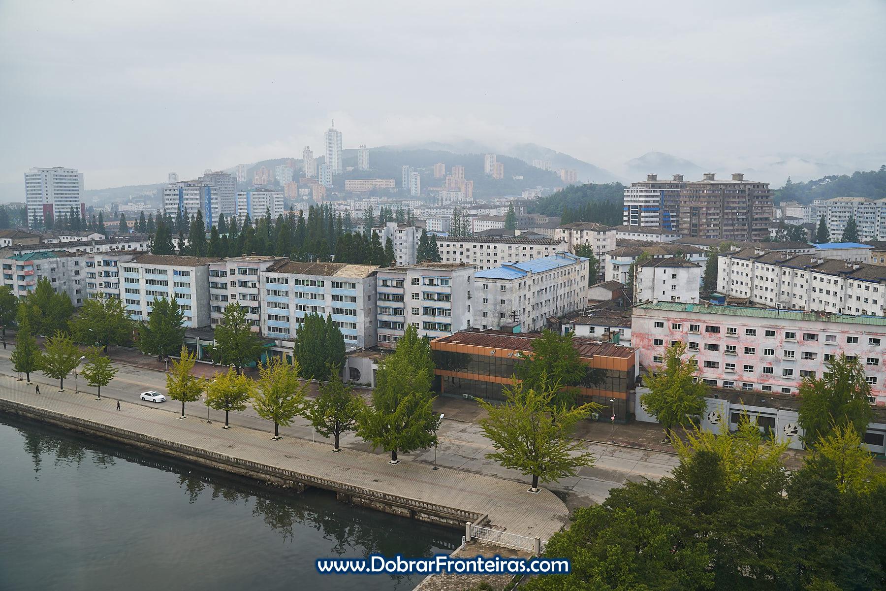 vista panorâmica da cidade de Wonsan