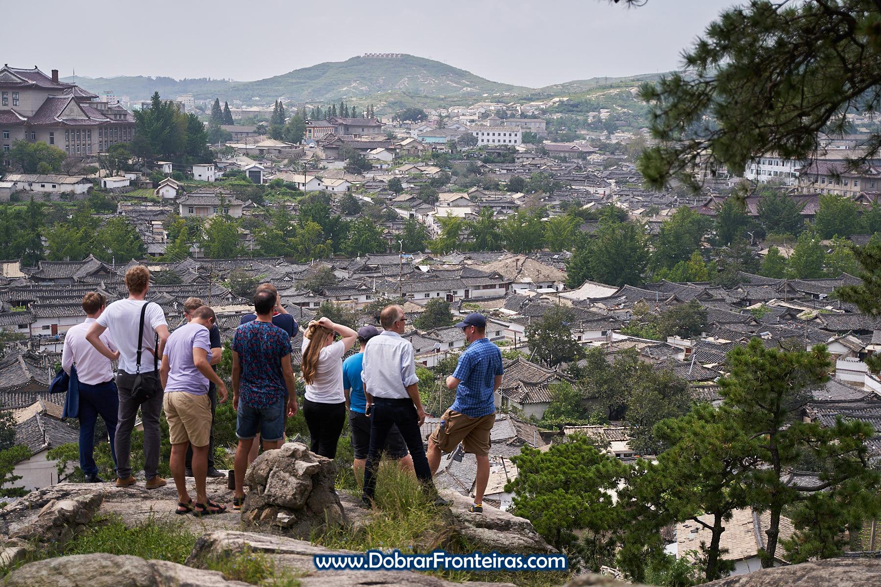 Grupo em vista panorâmica Kaesong