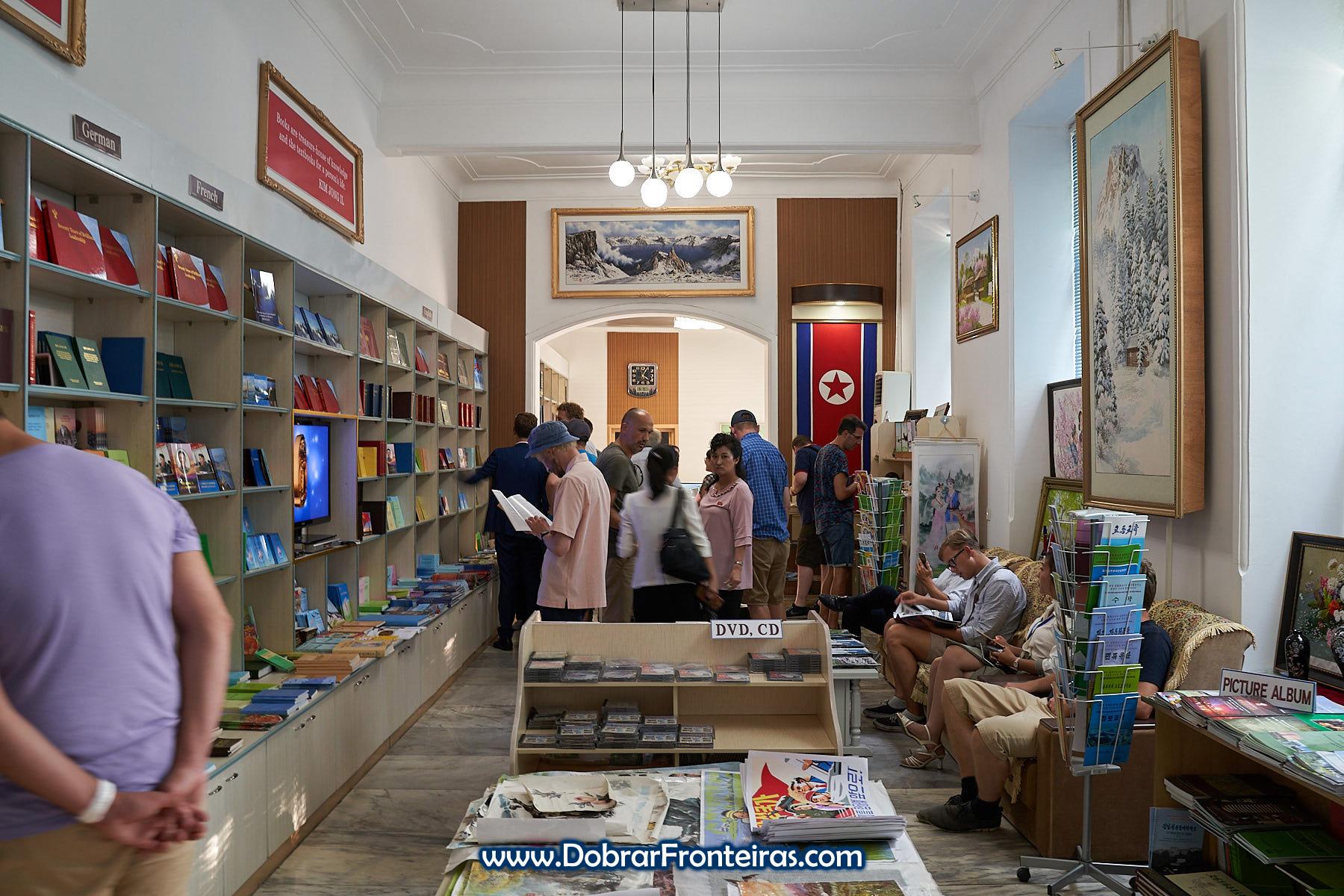 livraria em Pyongyang, Coreia do Norte