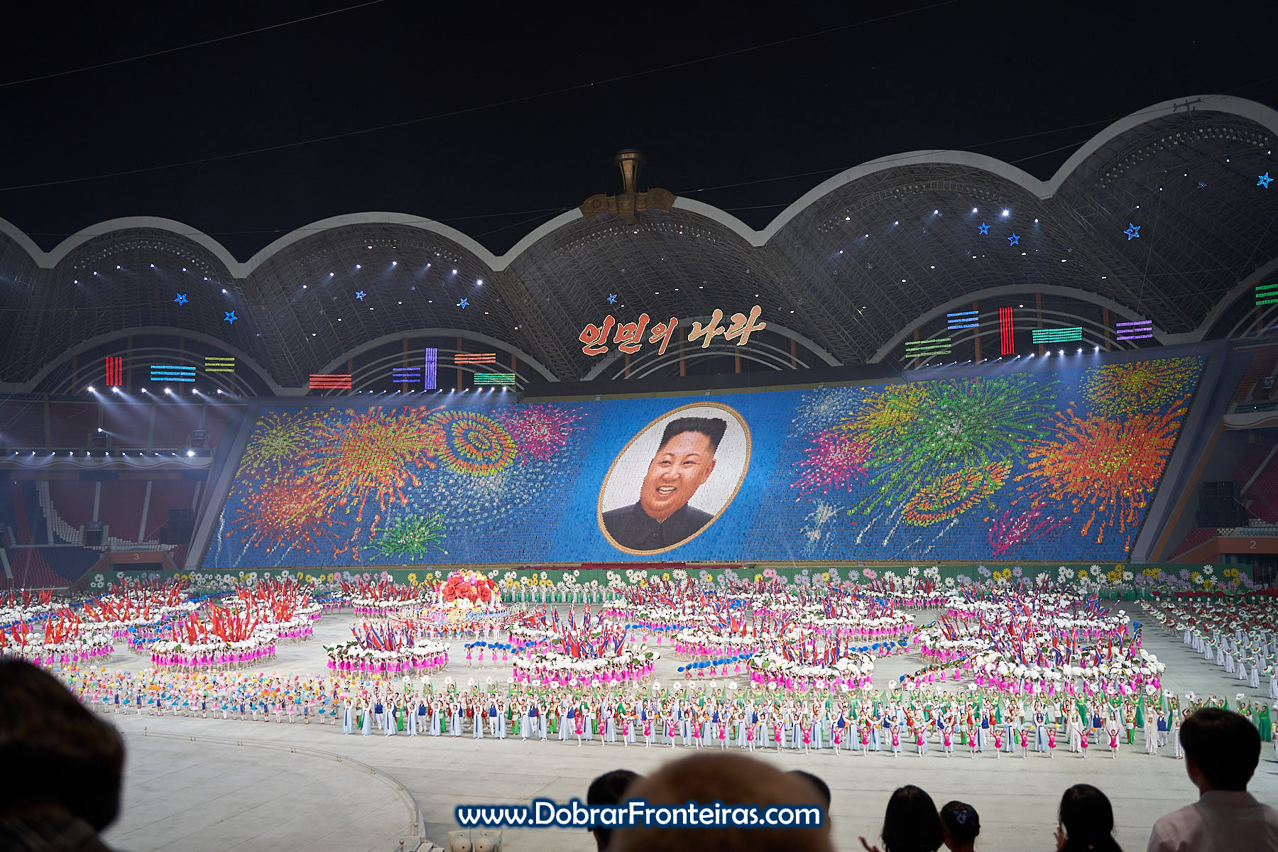 Kim Jung Un nos Mass Games 2019 Coreia do Norte