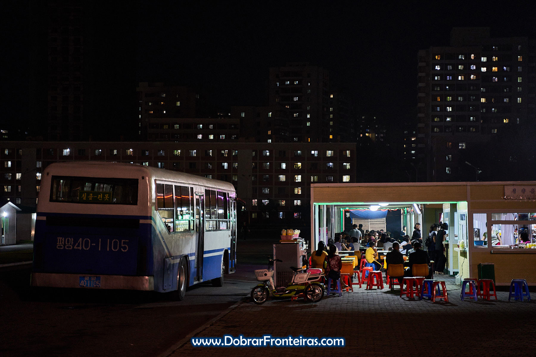 bares à noite em Pyongyang