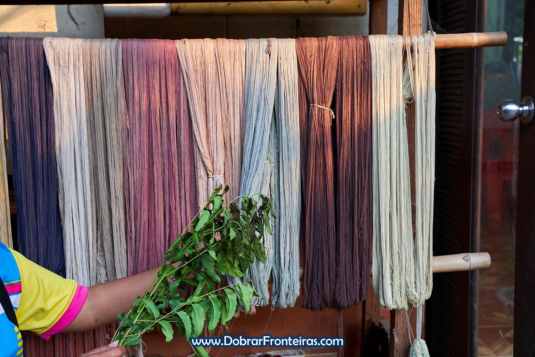planta para tingir tecidos de forma natural