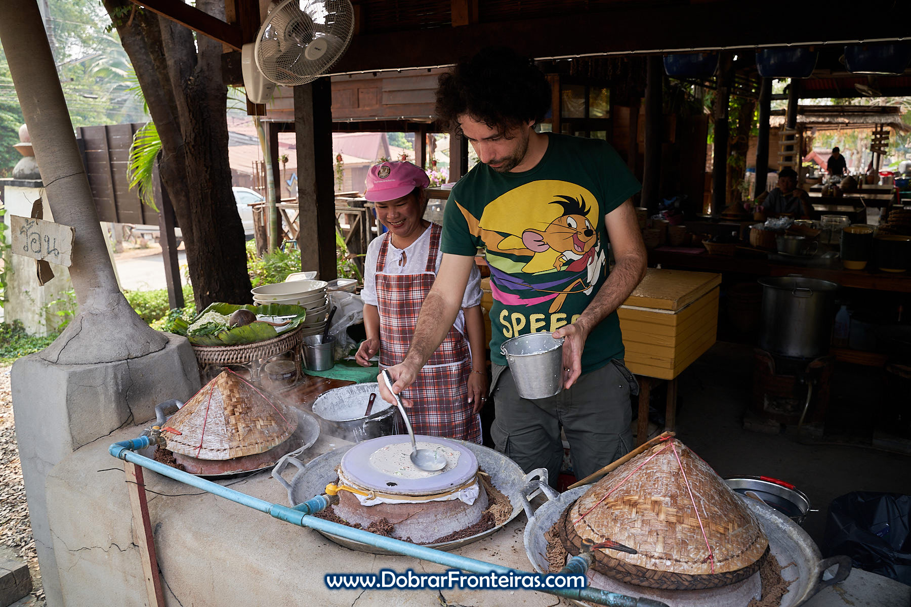 cozinhar ao vapor na Tailândia