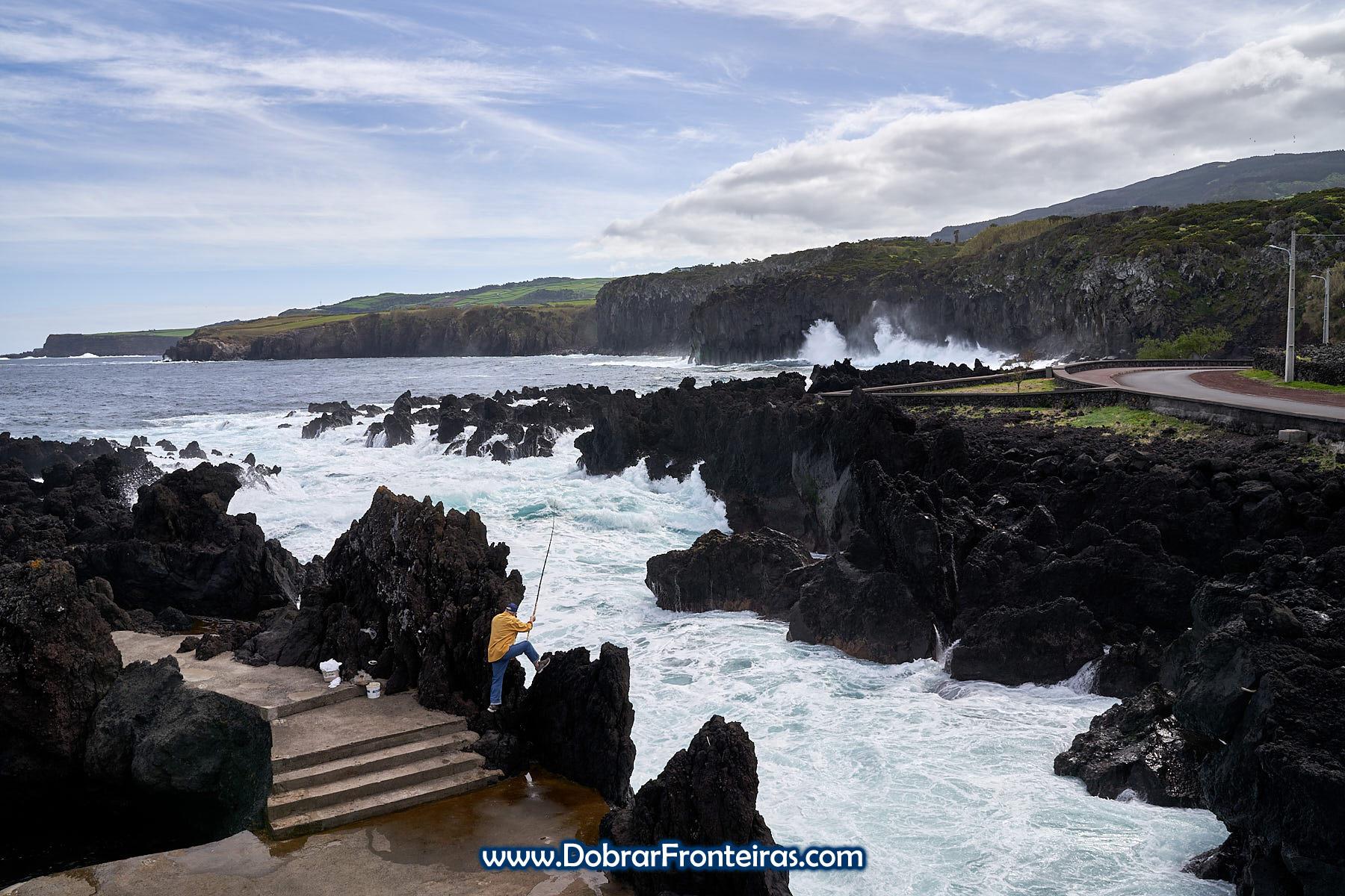 Mar agreste e pescados na ilha Terceira, Açores