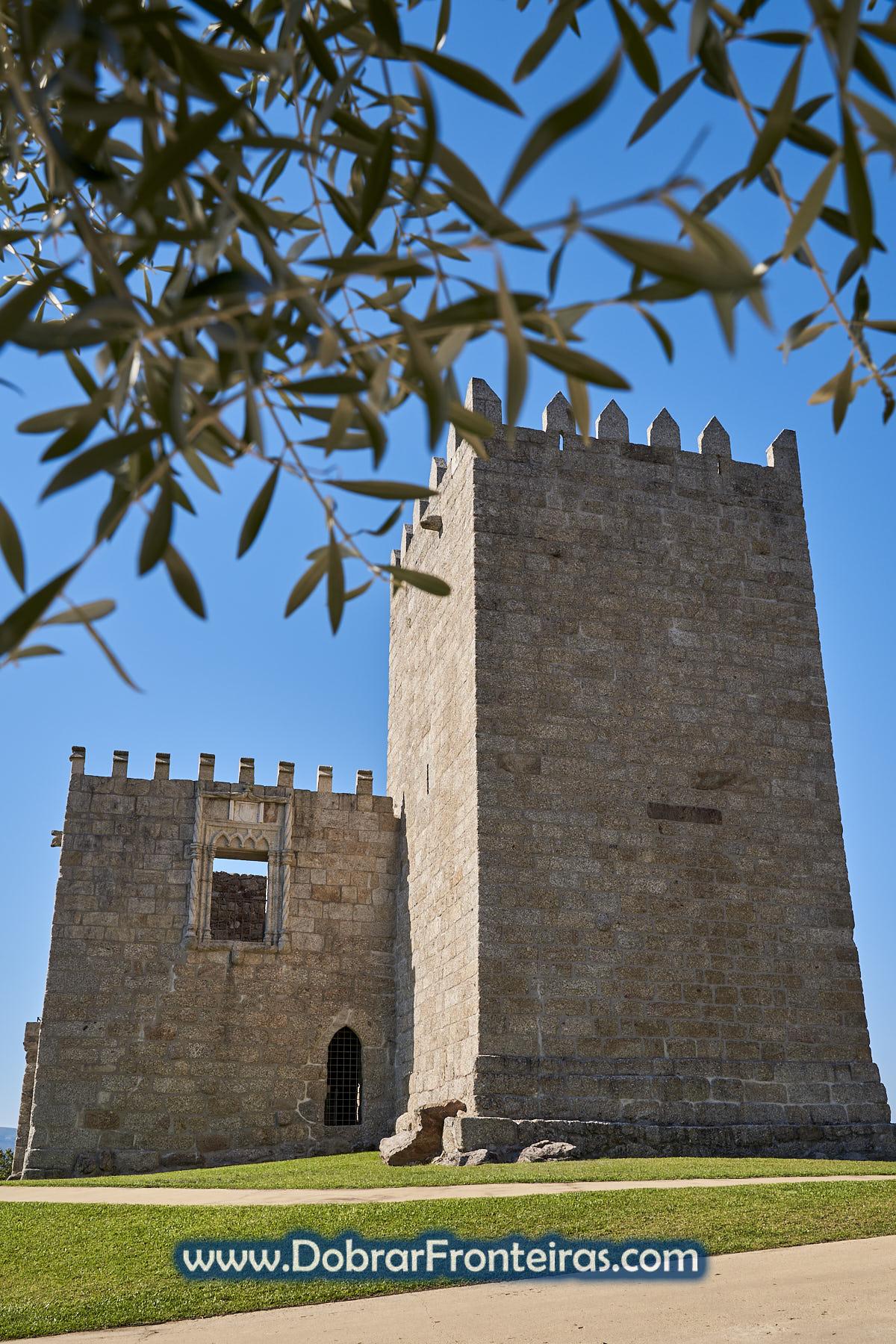Fachada do Paço de Giela, castelo em Arcos de Valdevez