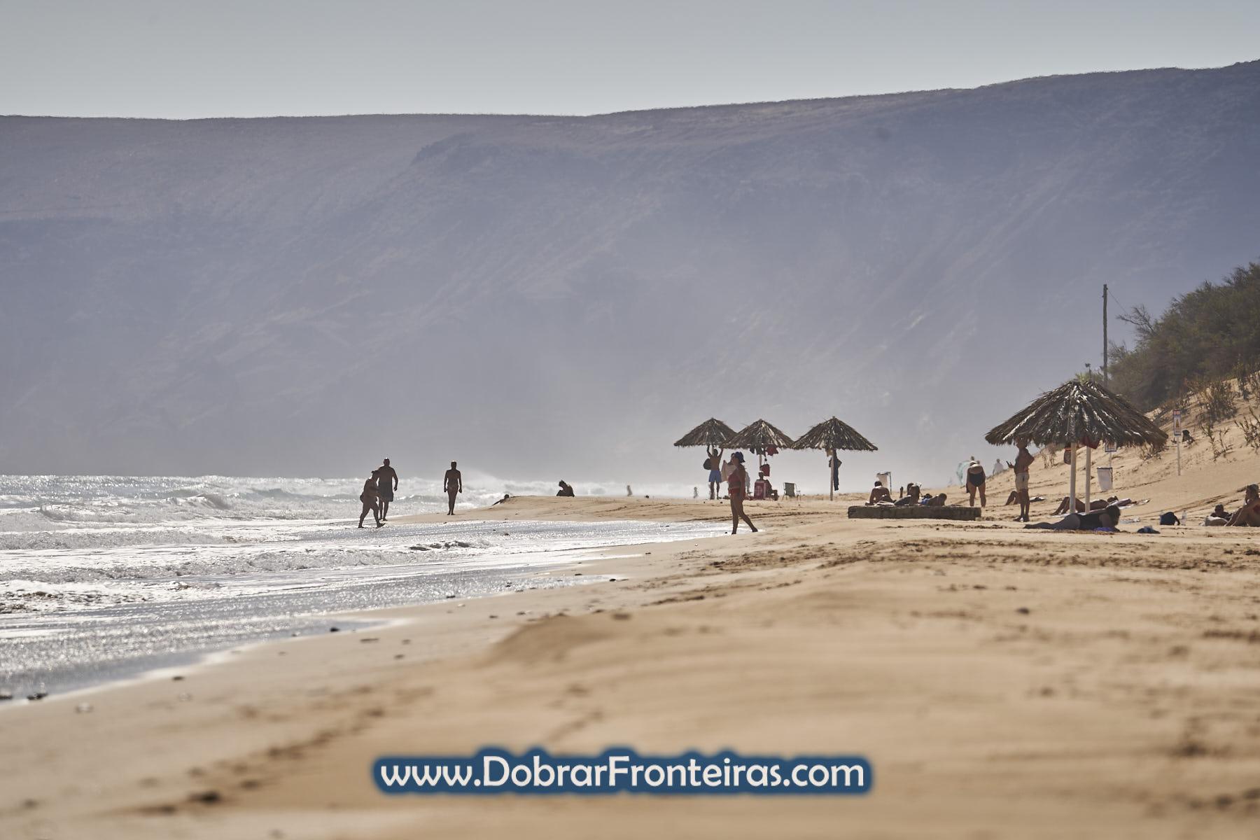 areal da praia de Porto Santo
