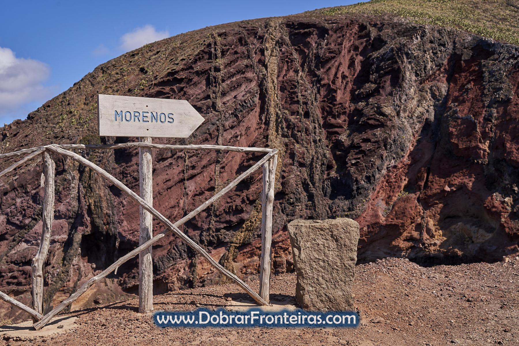formação rochosa vulcânica de Morenos